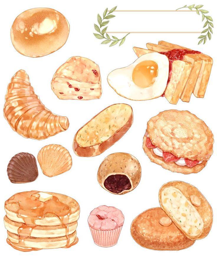 нарисованые картинки о еде
