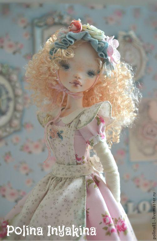 Купить Тамилиса - бледно-розовый, кукла ручной работы, кукла с красивыми глазами, кукла в подарок