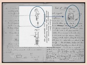 The blue prints on both Alexander Graham Bell and Elisha Gray's inventions of the telephone. Gray was arguing that his patent came before Bell, who eventually got all the credit for inventing the world's first telephone.