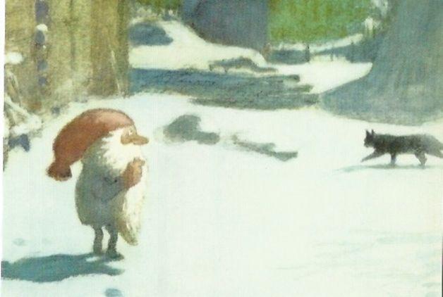 Postkarte Jahreszeitentisch Tomte Tummetott 1