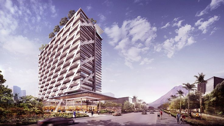 Maket gedung apartemen Uttara The Icon di kota Jogja.