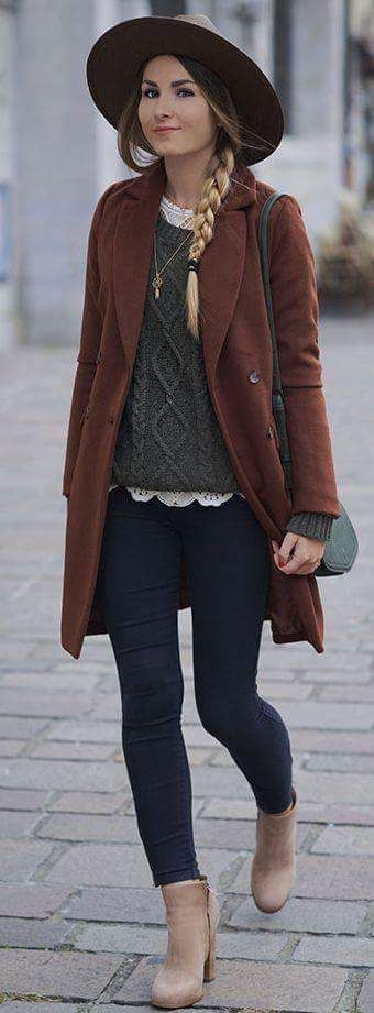 Add a layer and wear your jacket open to upgrade the style quotient of the jeans/sweater combo. Virtual Styling at WorkingLook.com