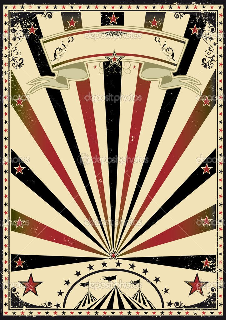 A Retro Circus Poster For Your Vector Clip Art