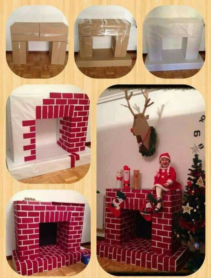 7 besten kamin aus karton bauen bilder auf pinterest recycling ideen weihnachten hacks und. Black Bedroom Furniture Sets. Home Design Ideas