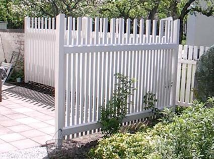 White fence line |= boundary.         Staket
