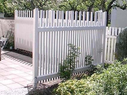 White fence line  = boundary. Staket