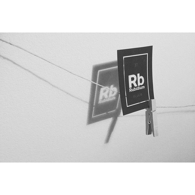 /Rubidium/ negative foil of the Rubidium logo