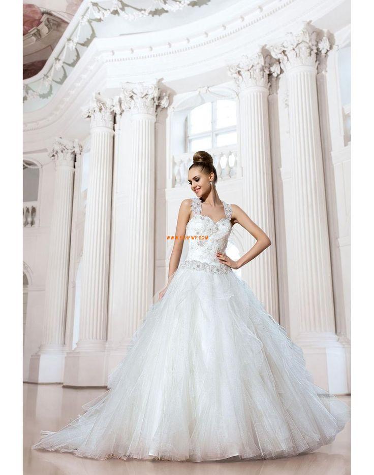 Prinsess Golvlång Naturlig Bröllopsklänningar 2014