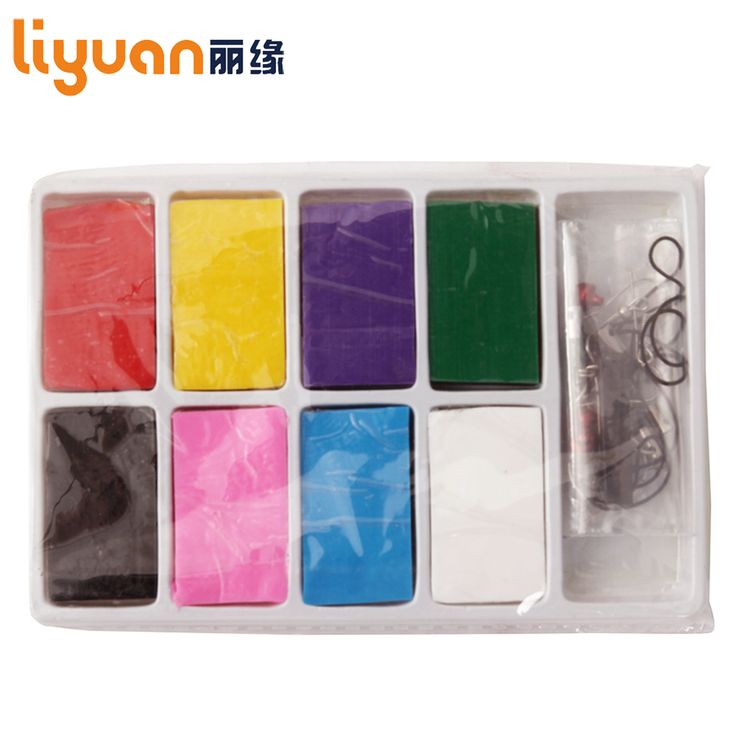 Liyuan Slim Clay Toy Colorful Modeling Clay 8 blocks Nontoxic Plasticine for Kids