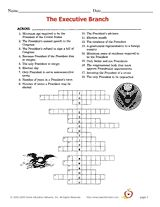 Printables Executive Branch Worksheet 1000 images about 3 branches on pinterest social studies the executive branch crossword puzzle