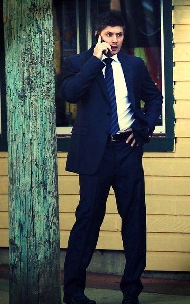 Jensen on set | Supernatural Dean Winchester