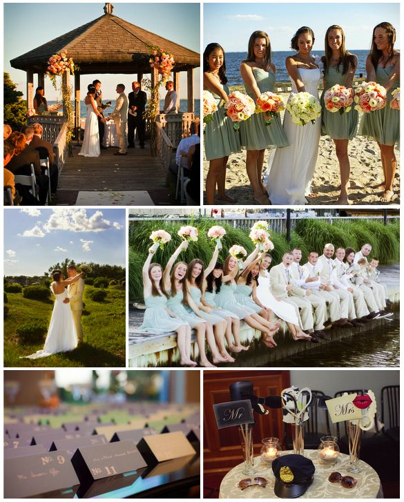 Seafoam Green Beach Wedding Ideas For Brides Grooms Parents