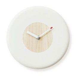 Pine Tree Wood Donut Circle Wall Mount Non-Ticking Silent Clock
