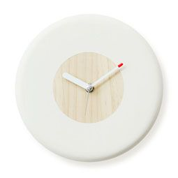 Pine Tree Wood Donut Circle Wall Mount Non-Ticking Silent Clock