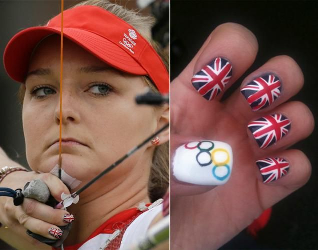 They've nailed it! When it comes to sporting the perfect mani, these Olympic athletes deserve a gold medal. Nail art has become a point of national pride for some Olympians, who have used their digits to flash everything from their country's flags to the Olympic rings -- or in the case of British archer Amy Oliver, both. Check out other athletes with winning manicures ...
