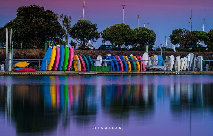 Colourfull boats neat westhaven