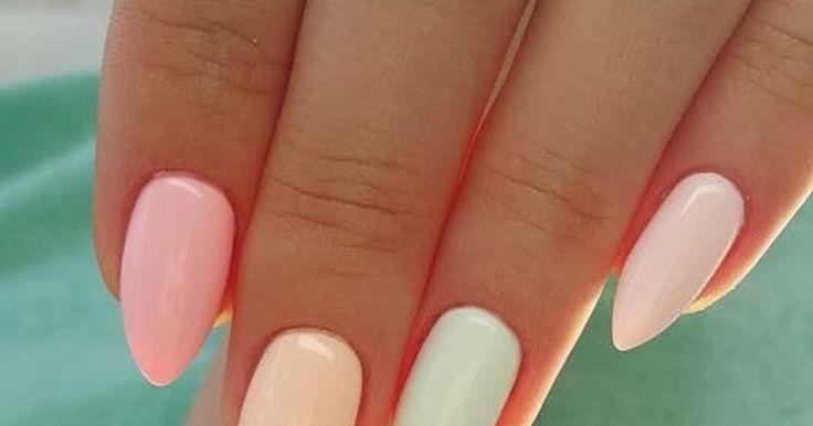 Vernis à ongles : Photo de 15 nail arts pas communs et qui ont du chien ! - Les couleurs pastel sont aussi tendances en mode que sur vos ongles - Vernis pastel, Vernis été, Vernis à ongles, Nail...