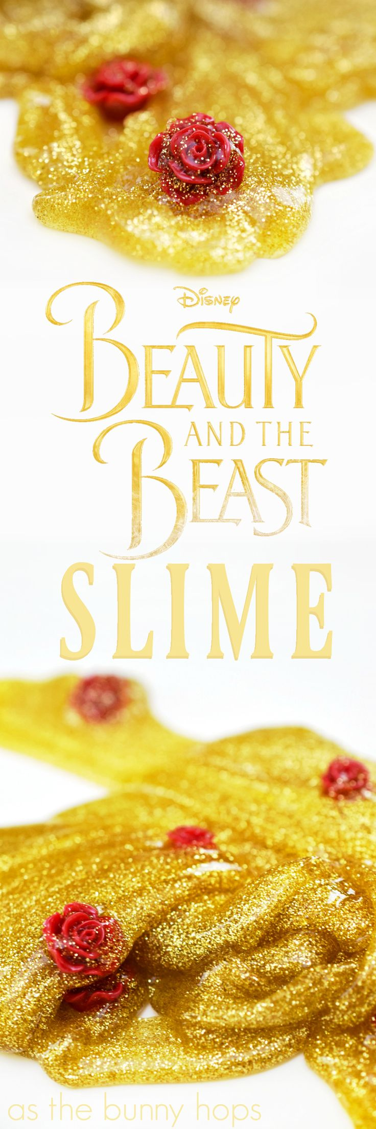It's a tale as old as slime... Make easy and fun Beauty and the Beast Slime with a few simple ingredients!