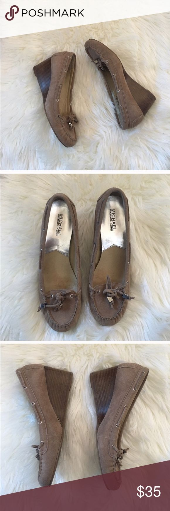 New Michael Kors Suede Wedge Loafers Excellent condition with no flaws and tons of life left! Like new condition! Size 8 women's. BUNDLES ARE DISCOUNTED 💕 NO TRADES PLEASE Michael Kors Shoes Heels