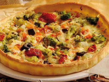 Crostata di zucchine, broccoli, fagiolini e scamorza