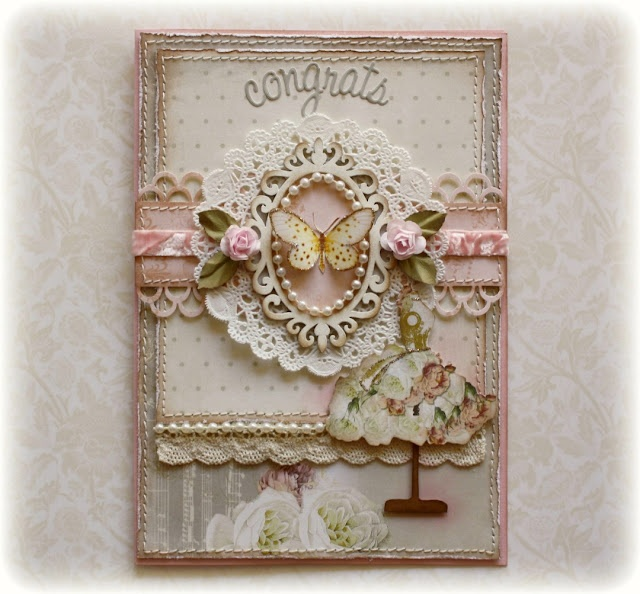 """A beauty of a card from Gabrielle over at """"Such A Pretty Mess"""". Love her """"stuff""""!"""