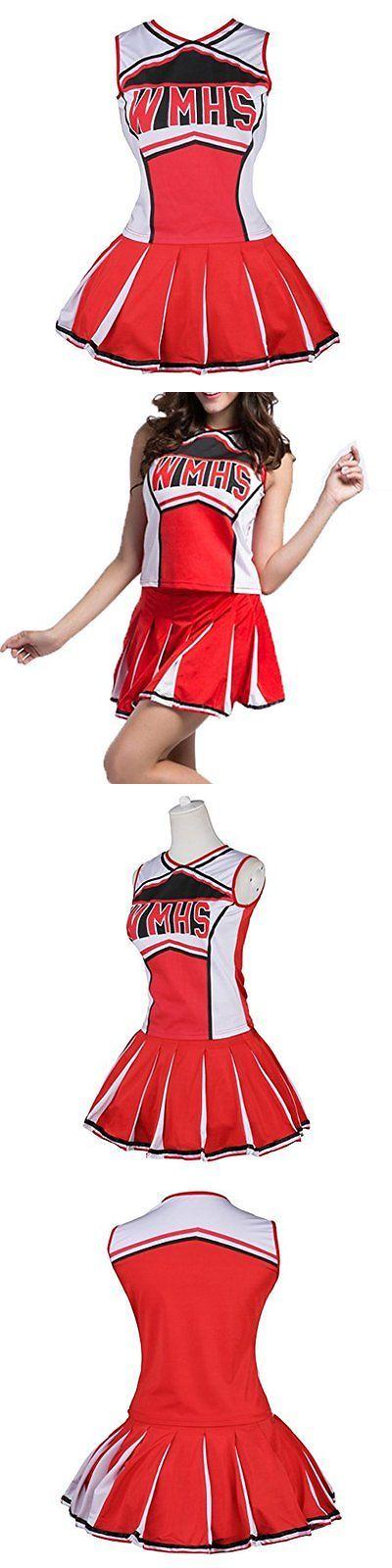 Halloween Costumes: Womens Cheerleader Costume Uniform Fancy Dress Red, Us 14-16 Xl BUY IT NOW ONLY: $30.74