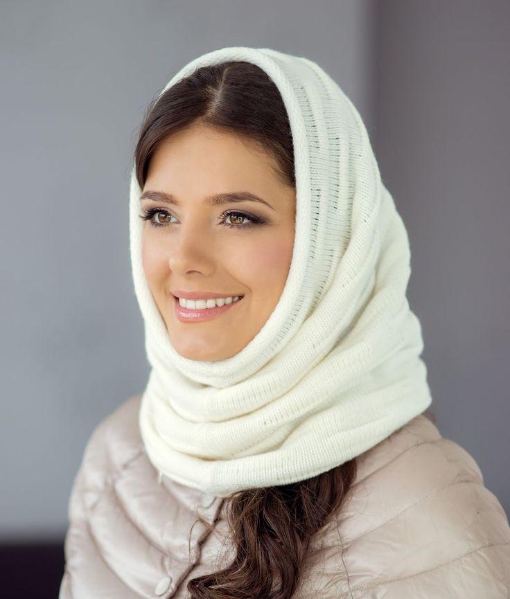 зимний шарф на голову фото цвета расцветки многом