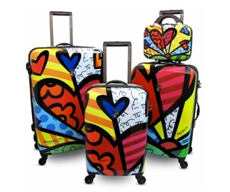 I love that this luggage is unique, recognizable, hard plastic (durable), and has matching pieces of all sizes.