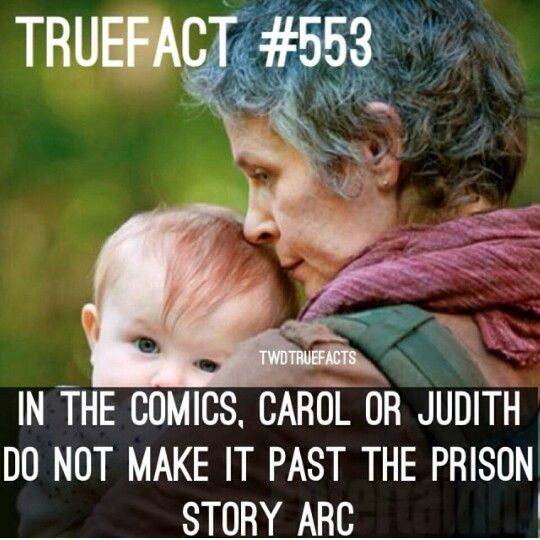 I was so surprised when they let Judith live, I mean she is a liability (don't hate me, I see that obejctively) and I just didn't like Carol but meh, I don't mind