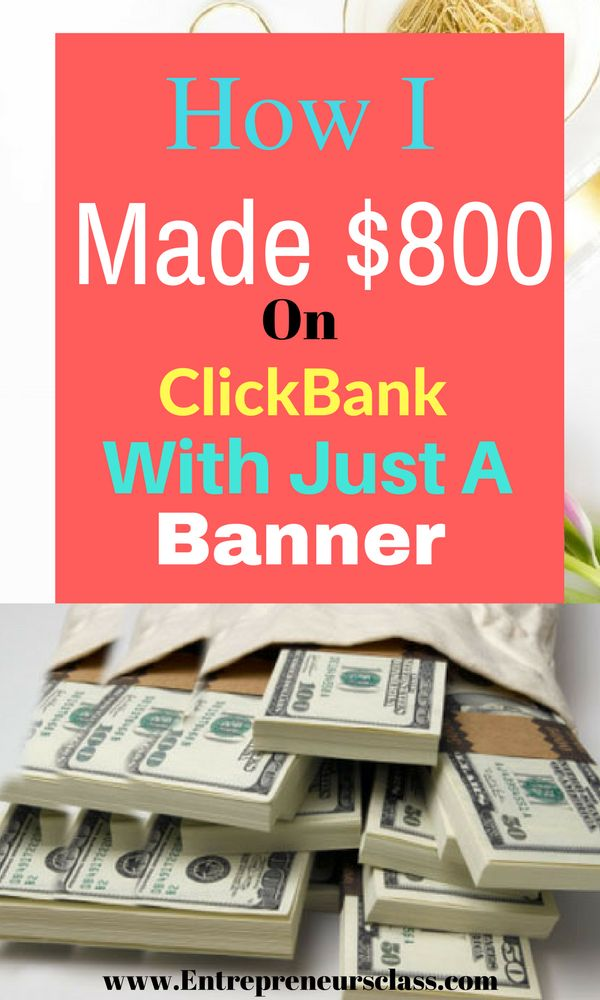 Check out how I made over $800 on Clickbank promoting affiliate products with just a banner ad.