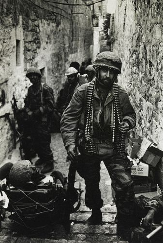 Don McCullin   The Six Day War. An Israeli paratrooper near the Wailing Wall during the assault on Jerusalem.   1967, June