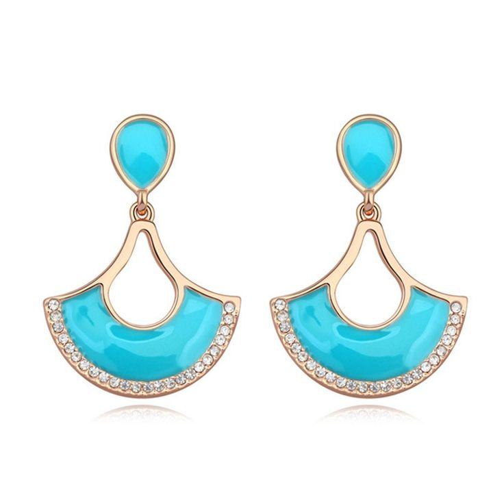 Austrian Crystal Drop Earrings - Fan of Life