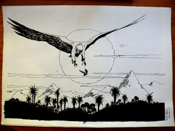Leccion de dibujo de mi primo, amigo y maestro Antonio Almazán realizado en tinta china con plumin y pincel.