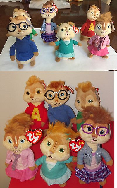 Beanie Kids 7111  New Alvin And The Chipmunks Licensed Beanie Babies  Collection By Ty -  BUY IT NOW ONLY   36.9 on eBay! c179184dc12