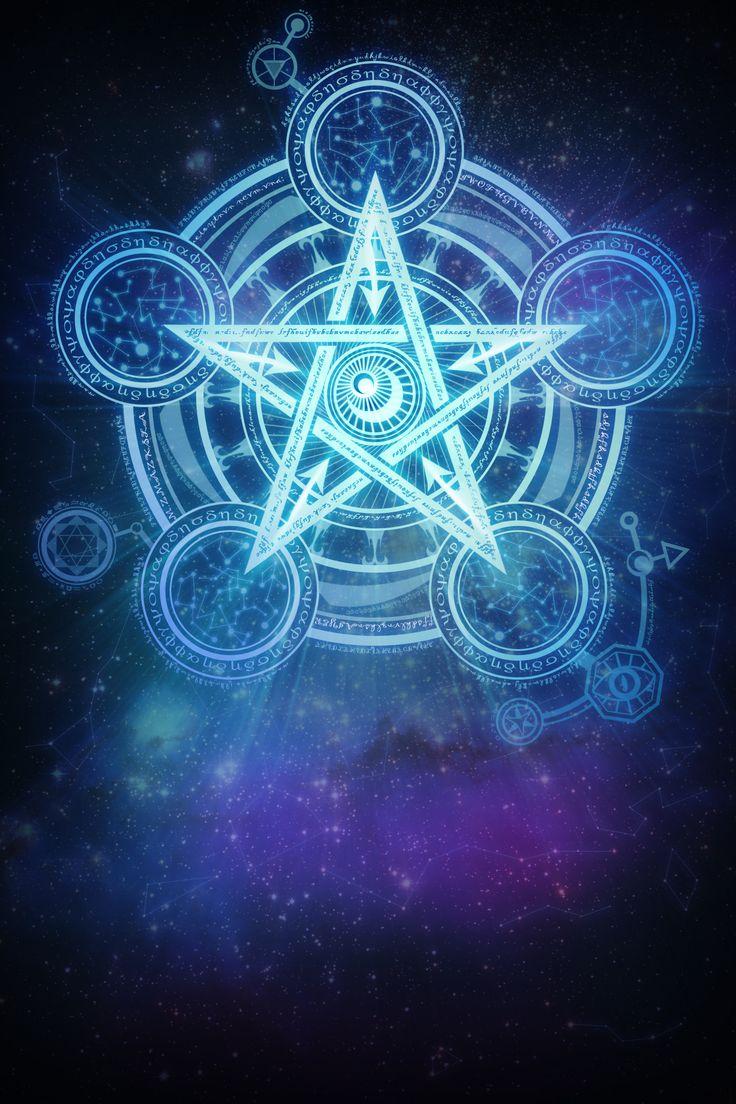 Pentagram and circle