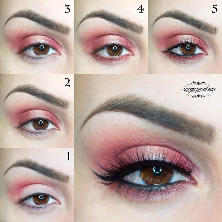 Tutorial for a sexy red eye look.
