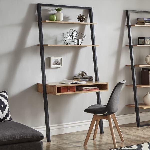 Ranell Leaning Desk Ladder Shelves By Inspire Q Modern Desks For Small Spaces Home Decor Furniture Ladder Shelf Decor