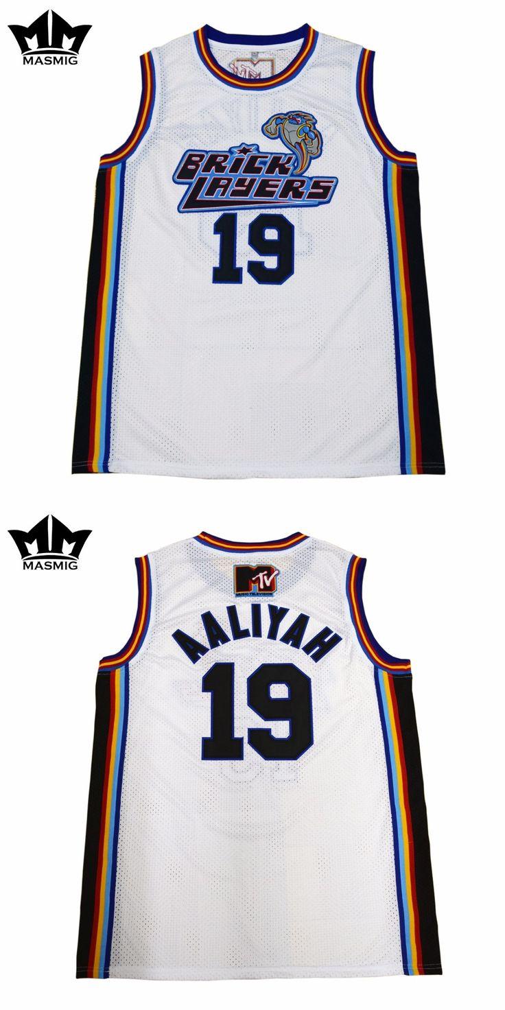 MM MASMIG Aaliyah 19 Bricklayers Basketball Jersey White For Free Shipping S M L XL XXL XXXL