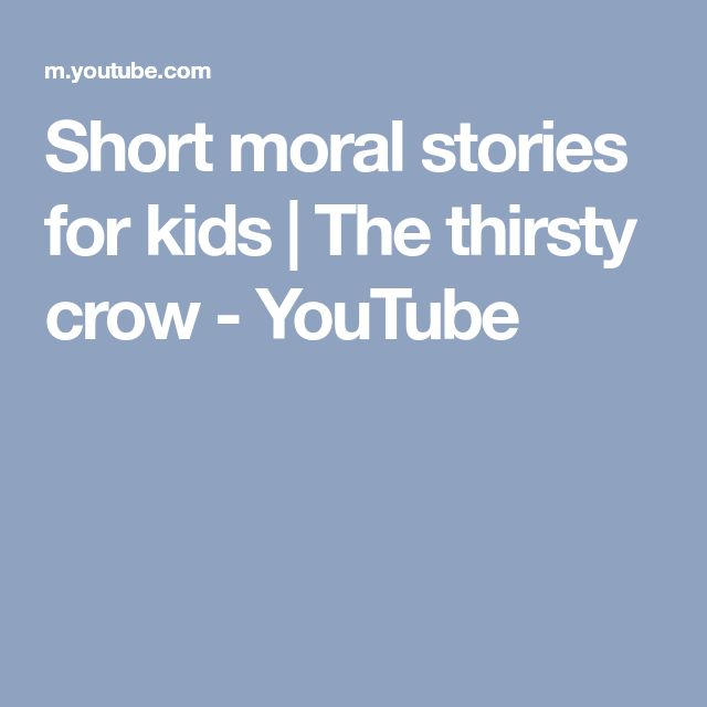 Short moral stories for kids | The thirsty crow - YouTube