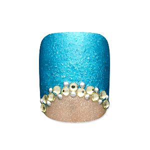 half moon with stones on the border is my new obsession... need to get to the beauty / craft store ASAP!