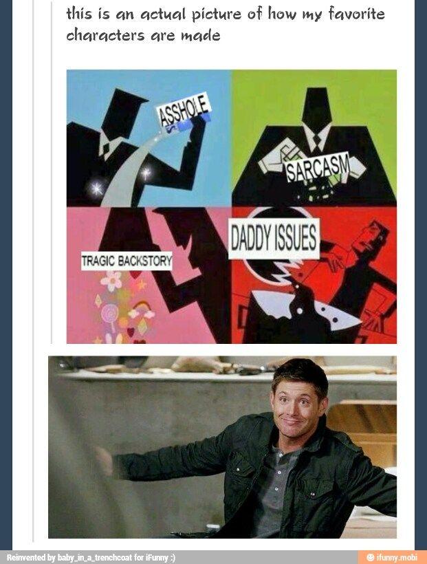 Supernatural fandom   Dean Winchester. LMAO. Laughing harder than i should...