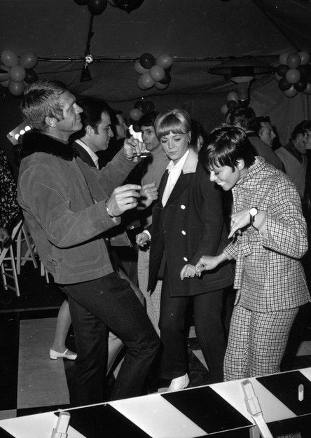 "Steve McQueen dancing at the wrap party for ""Point Blank,"" 1967"