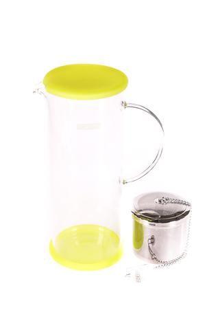 """Pichet à thé glacé """"For Life"""" en verre Lucent de couleur vert-kiwi"""