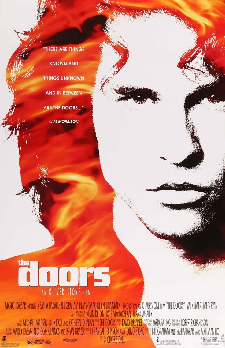 """Film: The Doors Year poster printed: 1991 Country: USA Exact Size: 26.75"""" x 39.75"""" This is a vintage, double-sided one-sheet movie poster from 1991 for The Doors starring Val Kilmer (as Jim Morrison),"""