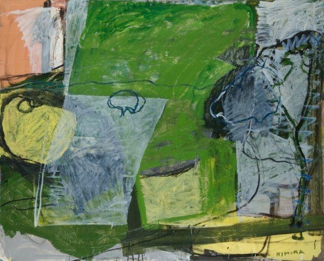 "Chuta Kimura - ""Paysage de Pégoma"", 1978, oil on canvas, 130 x 162 cm"