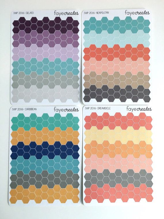 Mini hexagon stickers for inkWELL Press planner and by FayeCreates