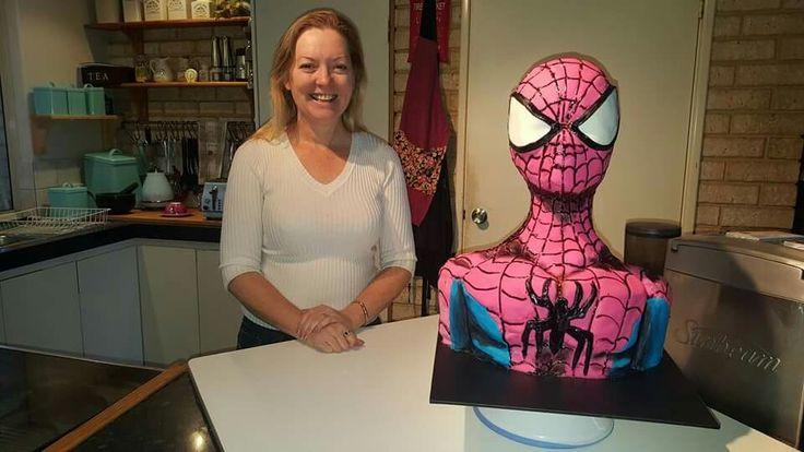 3d Bust Spiderman Cake