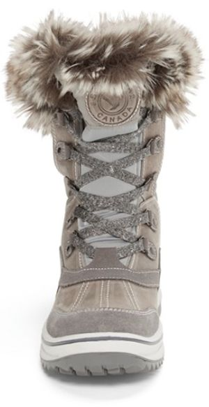 comfy faux fur waterproof boots