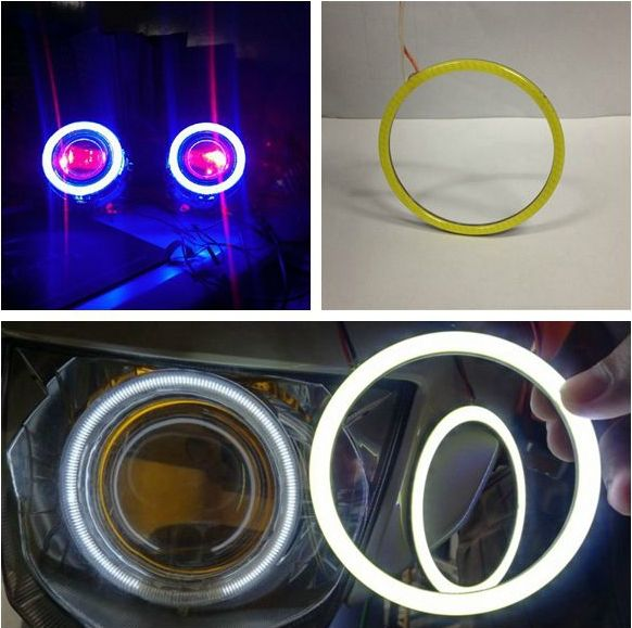 [ Diameter 60MM ] Brightness LED Daytime Running Lights Angel Eyes Rings / Cob Led Devil Eyes Fog Aperture
