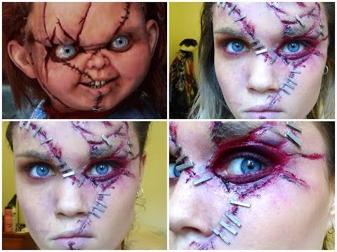 Chucky Halloween Makeup Tutorial - YouTube